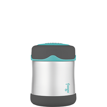 Charcoal and Teal Foogo® Vacuum Insulated 290 mL Food Jar
