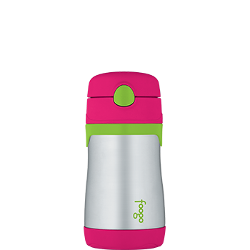 Watermelon and Green Foogo® Vacuum Insulated Straw Bottle