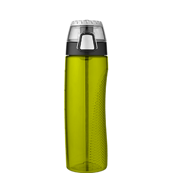 Lime Green Hydration Bottle with Rotating Meter on Lid