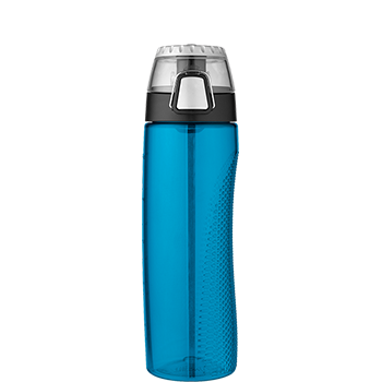 Teal Hydration Bottle with Rotating Meter on Lid