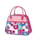 Pink Flower Purse Soft Novelty Lunch Kit