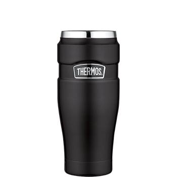 Stainless King™ Vacuum Insulated Travel Tumbler in Black
