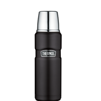 Stainless King™ 470 mL Vacuum Insulated Beverage Bottle in Matte Black