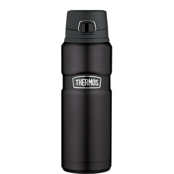 Stainless King™ Direct Drink Bottle in Black