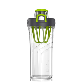 Shaker Bottle with Integrated Mixer